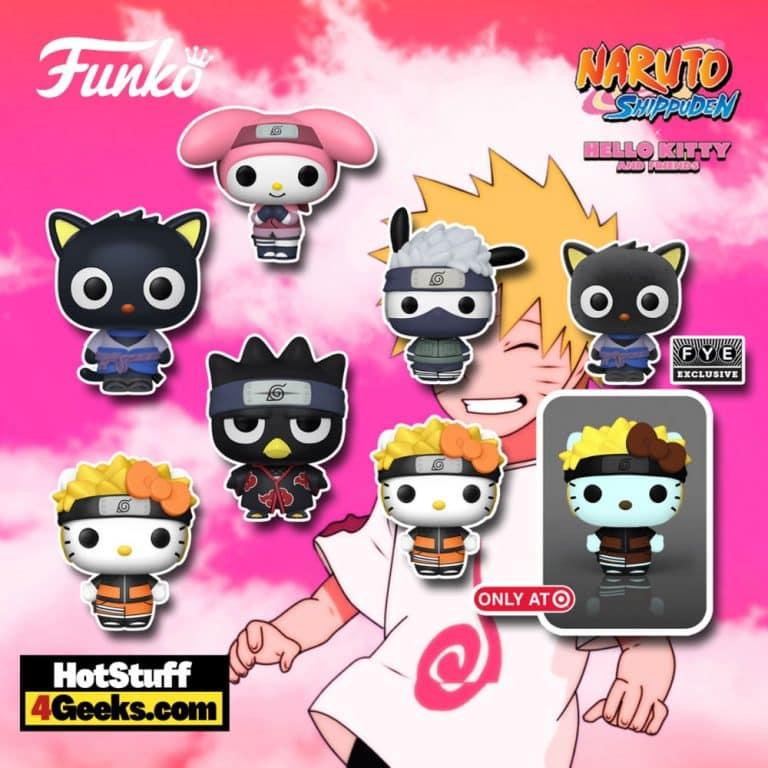 Funko Pop! Animation - Hello Kitty X Naruto: Pochacco, Hello Kitty, Badtz-Maru, Chococat, My Melody, Chococat (Flocked), and Hello Kitty (Glow) Funko Pop! Vinyl Figures