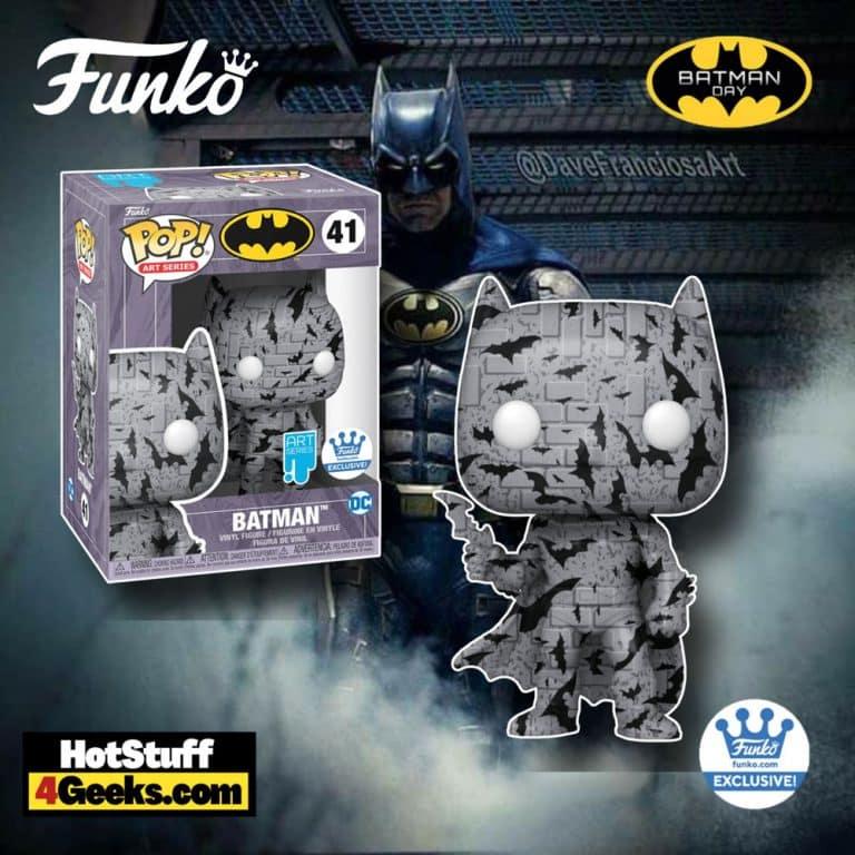 Funko Pop! Art Series: Batman Grey Funko Pop! Artistic Series Vinyl Figure - Funko Shop Exclusive - Batman Day 2021