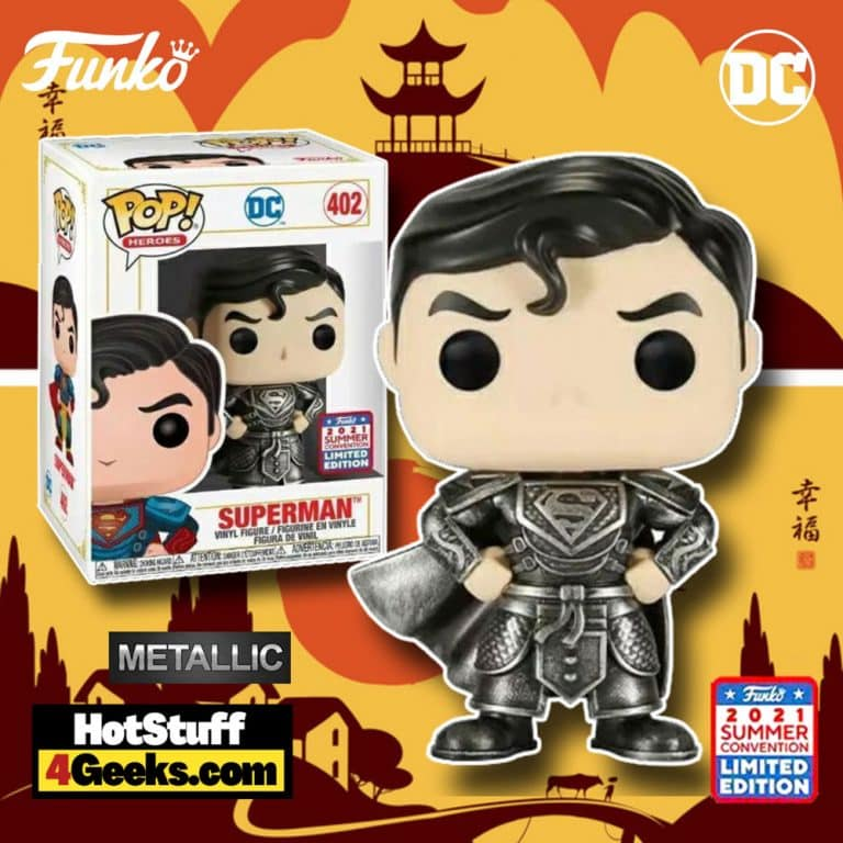 Funko Pop! DC Heroes: Imperial Palace - Superman in Black Suit Metallic - China Exclusive Editon (2021 Summer Convention)