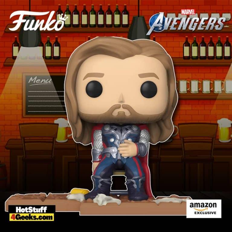 Funko Pop! Deluxe: Marvel Avengers – Victory Shawarma Series – Thor Funko Pop! Vinyl Figure – Amazon Exclusive, Figure 6 of 6