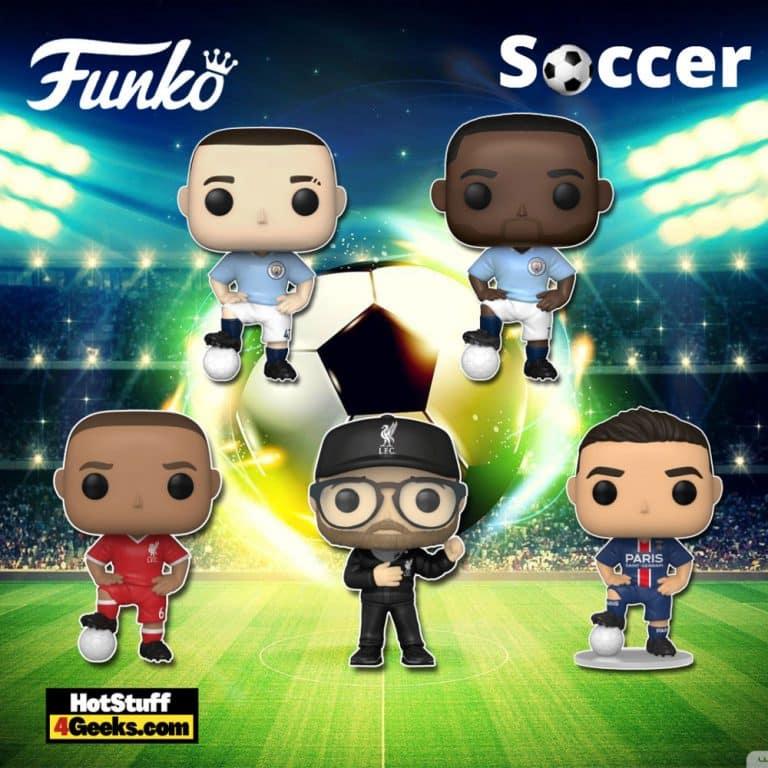 Funko Pop! Football - Jurgen Klopp (Liverpool), Thiago Alcantara (Liverpool), Raheem Sterling (Manchester City), Phil Foden (Manchester City), and Mauro Icardi (PSG) Funko Pop! Vinyl Figures