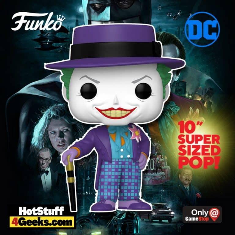 Funko Pop! Heroes: Batman 1989 - Joker with Hat 10-Inch Jumbo Sized Funko Pop! Vinyl Figure - GameStop Exclusive
