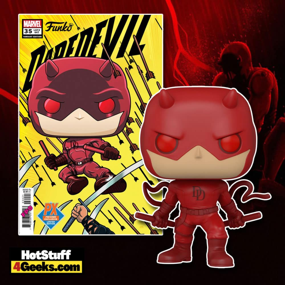 Funko Pop! Marvel - Daredevil Action Pose Funko Pop! Vinyl Figure - PX Previews Exclusive with Daredevil #35 Variant Comic