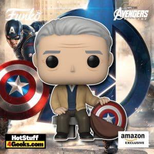 Funko Pop! Marvel: Year of The Shield - Old Man Steve Funko Pop! Vinyl Figure, Amazon Exclusive