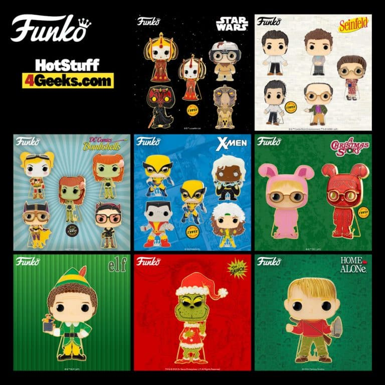 Funko Pop! Pins: Seinfeld, Star Wars, X-Men, DC Bombshells, The Grinch, Elf, A Christmas Story, and Home Alone Large Enamel Funko Pop! Pins - Wave 7 (2021)