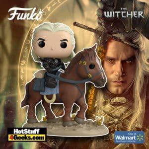 Funko Pop! Ride Deluxe: Witcher - Geralt of Rivia And Roach Funko Pop! Vinyl Figure - Walmart Exclusive