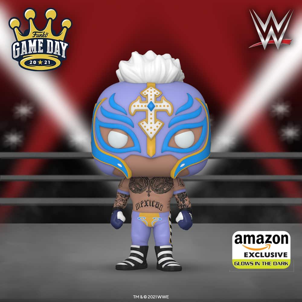 Funko Pop! WWE: Rey Mysterio Glow in The Dark Funko Pop! Vinyl Figure - Amazon Exclusive