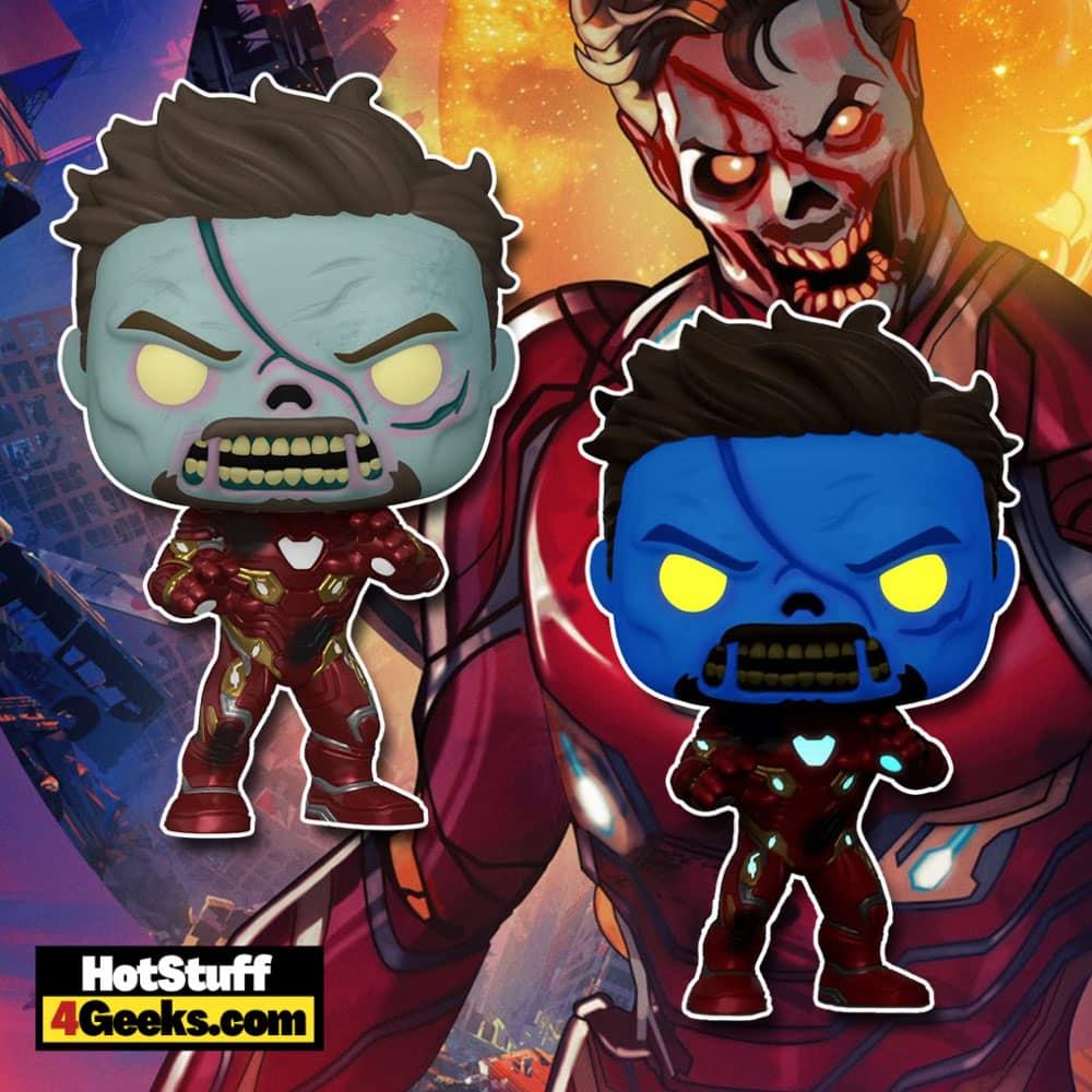 Funko Pop! What If...? Zombie Iron Man Glow-In-The-Dark (GITD)Funko Pop! Vinyl Figure- Amazon Exclusive