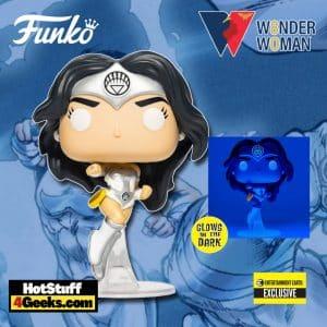 Funko Pop! Dc Heroes: Wonder Woman 80th Anniversary - Wonder Woman White Lantern Glow-in-the-Dark Funko Pop! Vinyl Figure - Entertainment Earth Exclusive