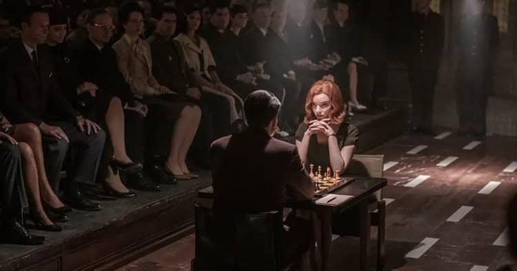 Harmon faces Borgov in chess.