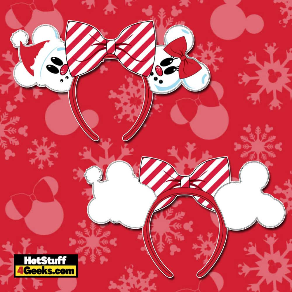 Loungefly Disney Christmas Snowman Mickey and Minnie Ears Headband
