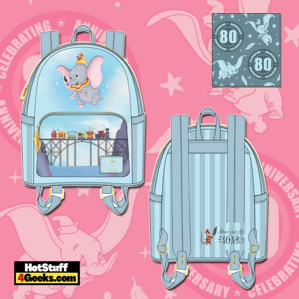 Loungefly Disney Dumbo 80th Anniversary Don't Just Fly Mini Backpack