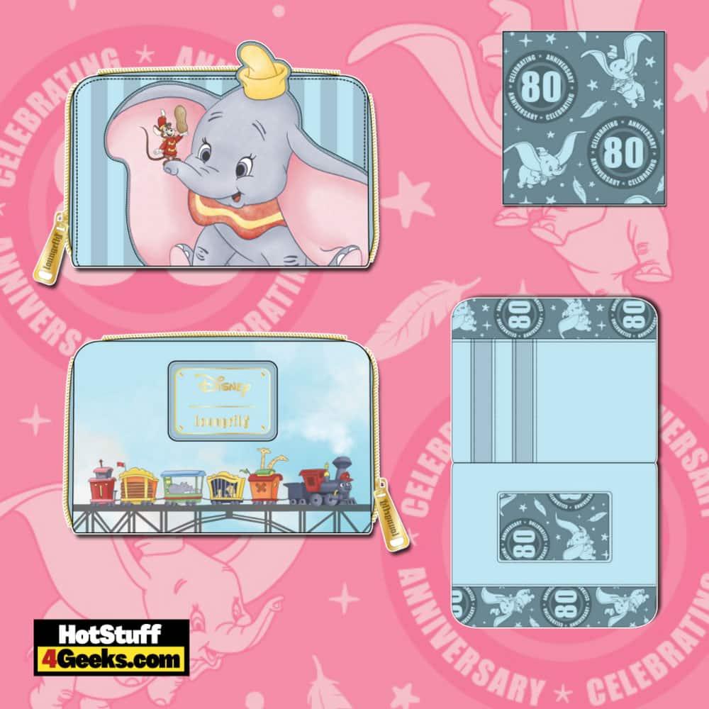 Loungefly Disney Dumbo 80th Anniversary Zip Around Wallet