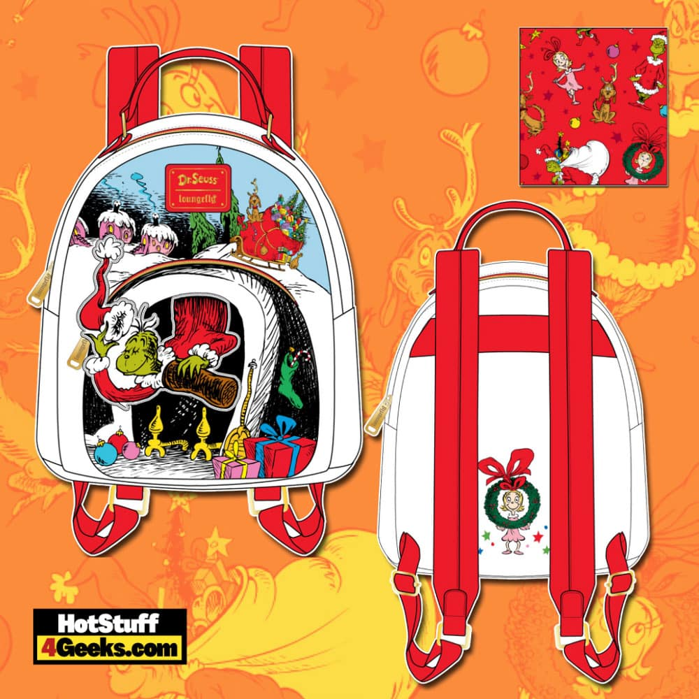 Loungefly Dr. Seuss Christmas The Grinch Chimney Thief Mini Backpack