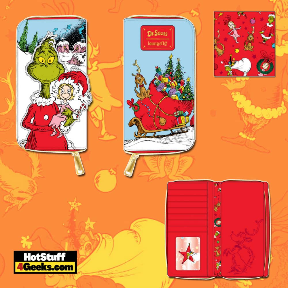 Loungefly Dr. Seuss Christmas The Grinch Loves The Holidays Zip Around Wallet