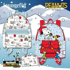 Loungefly Peanuts Christmas Happy Holiday and Snoopy and Woodstock October 2021 Pre-Orders (Mini Backpack and Wallet)