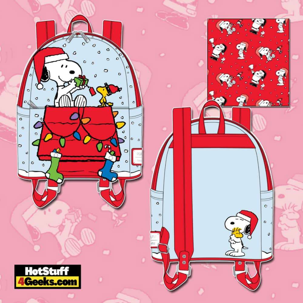 Loungefly Peanuts Christmas Snoopy and Woodstock Mini Backpack