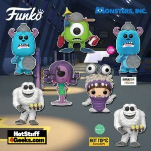 Funko Pop! Disney Pixar: Monsters, Inc. 20th Anniversary - Boo with Hood, Mike with Mitts, Sulley with Lid, Yeti, and Celia Funko Pop! Vinyl Figures