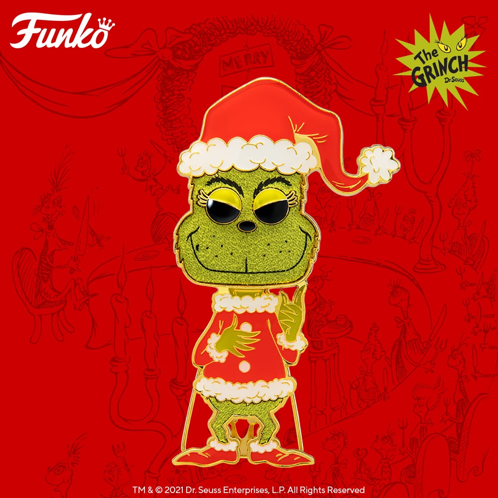 Pop! Pins: The Grinch Large Enamel Funko Pop! Pin