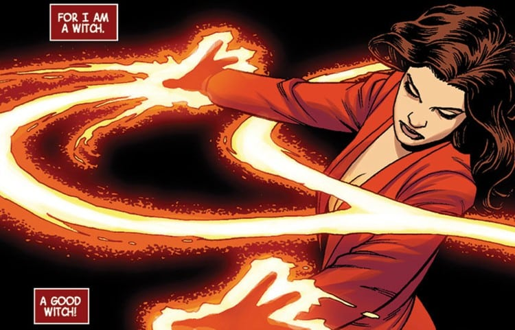 Living up to her name, Wanda Maximoff is excellent in the art of witchcraft.
