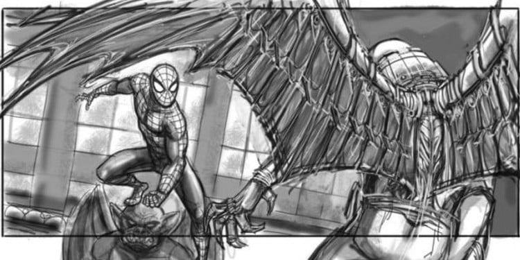 Storyboard by Jeffrey Henderson for Spider-Man 4