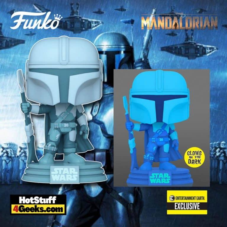 Funko Pop! Star Wars: The Mandalorian - The Mandalorian Hologram Glow-in-the-Dark (GITD) Pop! Vinyl Figure - Entertainment Earth Exclusive