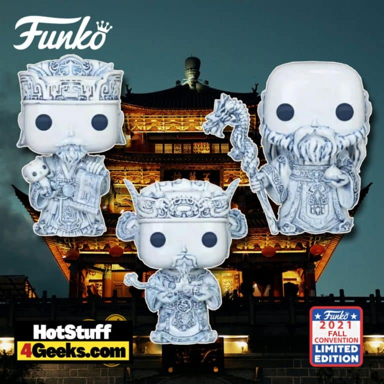 Funko Pop! Asia: The Three Immortals 3-Pack Funko Pop! Vinyl Figures - 2021 NYCC, 2021 Fall Convention and China Edition Exclusive