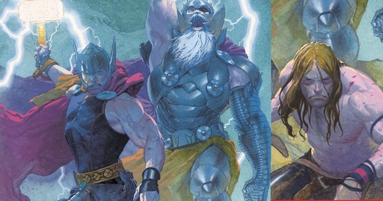 The three versions of Thor, the God of Thunder.