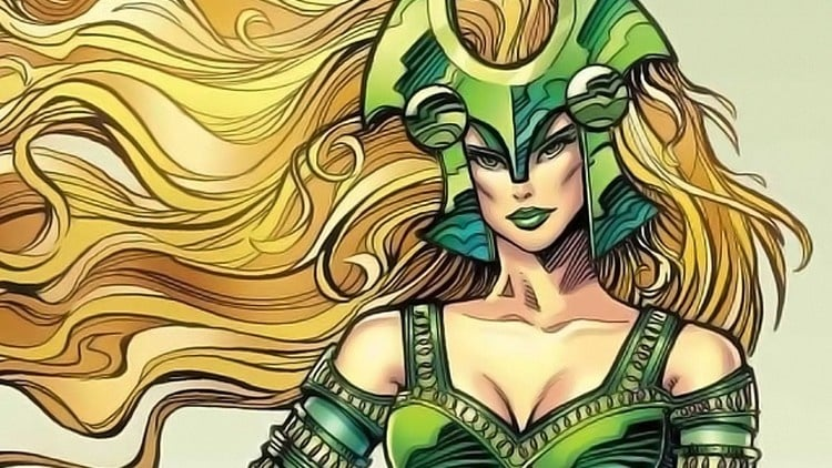 With long blond hair and green outfit, Amora is a memorable figure in Marvel