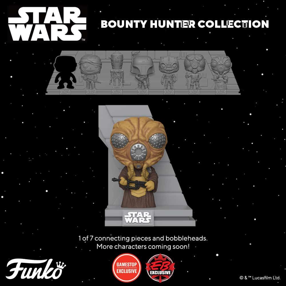 Funko Pop! Deluxe Star Wars: Bounty Hunters Collection – The Empire Strikes Back - Zuckuss Funko Pop! Vinyl Figure 6 of 7 – GameStop Exclusive