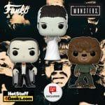Funko Pop! Movies: Universal Monsters - Bride of Frankenstein, Dracula and The Wolf Man Funko Pop! Vinyl Figures - Walgreens Exclusives