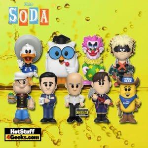 Funko Soda: Donald Duck (3 Caballeros), Spikey, Number 5, Mr. Owl, Bakugo, Popeye, Twinkie The Kid, Michael Scott, and Creed Funko Vinyl Soda Figures
