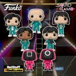 Funko Pop! Television: Squid Game: Kang Sae-byeok Player 067, Seong Gi-Hun Player 456, Abdul Ali Player 199, Cho Sang-Woo Player218, Oh Il-nam Player 001, Masked Worker, and Masked Manager Funko Pop! Vinyl Figures