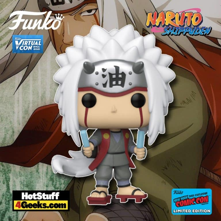 Funko Pop! Animation: Naruto Shippuden - Jiraiya Funko Pop! Vinyl Figure Funko Virtual Con NYCC 2021 – Hot Topic Shared Exclusive