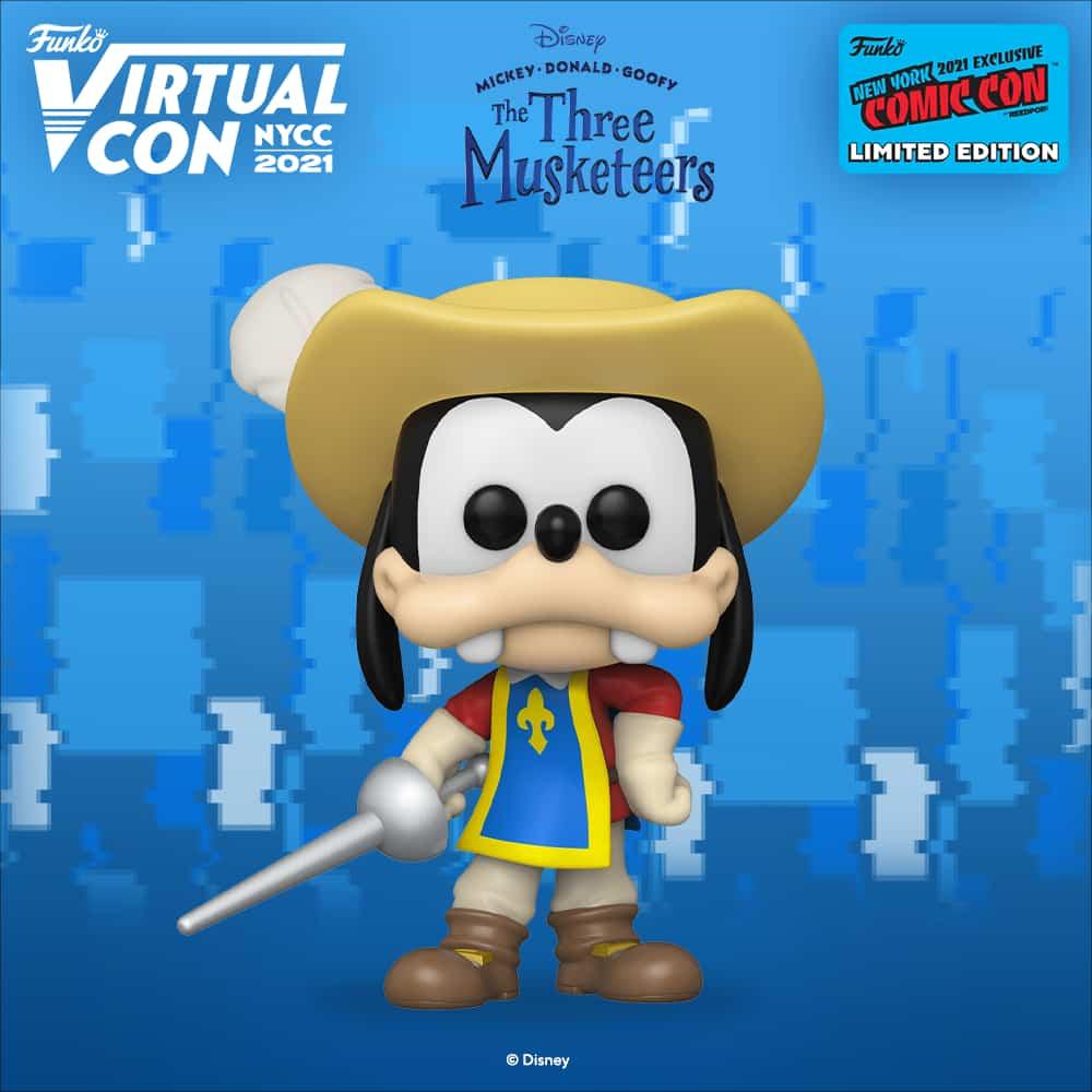 Funko Pop! Disney: The Three Musketeers - Goofy Funko Pop! Vinyl Figure Funko Virtual Con NYCC 2021 – Amazon Shared Exclusive
