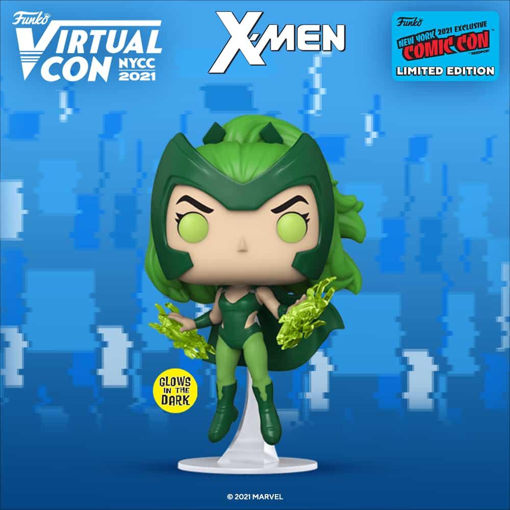 Funko Pop! Marvel: X-Men - Polaris Glow-In-The-Dark (GITD) Funko Pop! Vinyl Figure Funko Virtual Con NYCC 2021 – GameStop Shared Exclusive