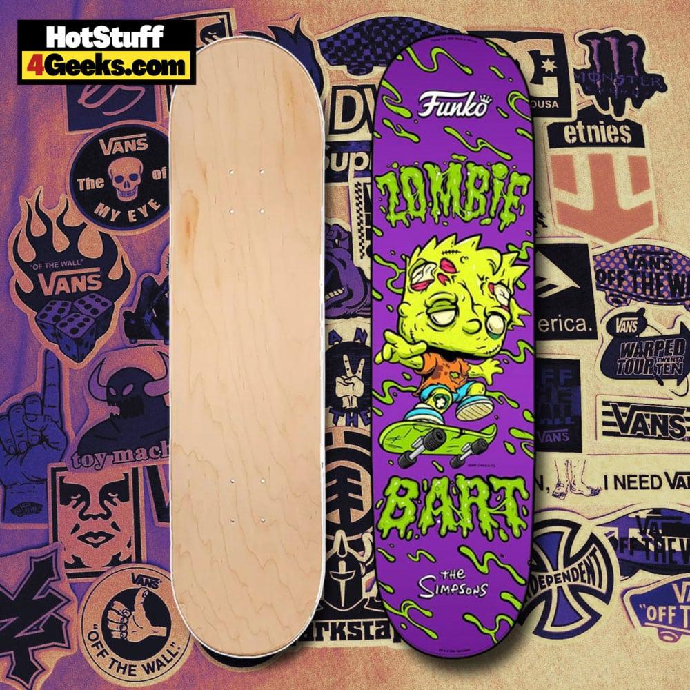 Funko The Simpsons Zombie Bart Skateboard Deck Funko Virtual Con NYCC 2021 Exclusive