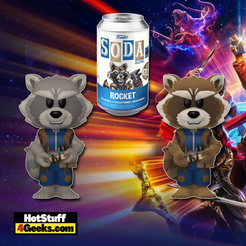 Funko Vinyl Soda! Marvel: Guardians of The Galaxy Vol. 2 - Rocket Funko Vinyl Soda Figure is a Funko Virtual Con NYCC 2021 – Funko Shop Shared Exclusive