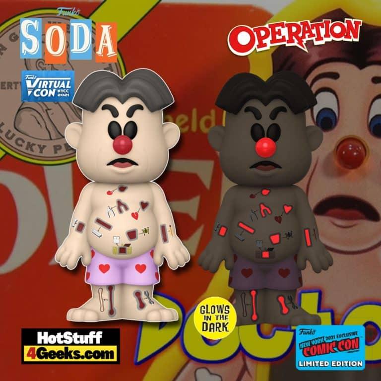 Funko Vinyl Soda! Hasbro Operation - Cavity Sam Funko Vinyl Soda Figure is a Funko Virtual Con NYCC 2021 – Funko Shop Shared Exclusive