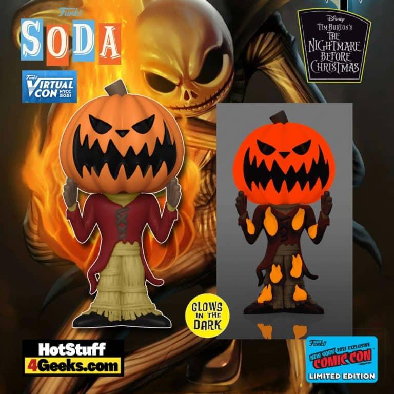 Funko Vinyl Soda! The Nightmare Before Christmas - Pumpkin King Jack Funko Vinyl Soda Figure is a Funko Virtual Con NYCC 2021 – Hot Topic Shared Exclusive