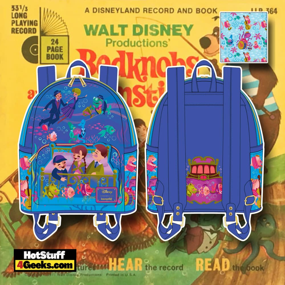 Loungefly Disney Bedknobs and Broomsticks Underwater Mini Backpack