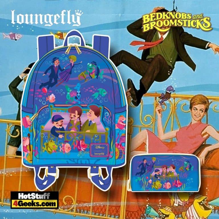 Loungefly Disney Bedknobs and Broomsticks Underwater Mini Backpack, and Wallet - November 2021 Pre-Orders