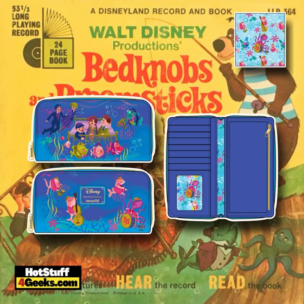 Loungefly Disney Bedknobs and Broomsticks Underwater Zip Around Wallet