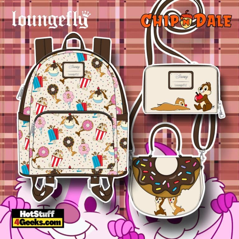 Loungefly Disney Chip and Dale Sweet Treats Mini Backpack, Crossbody Bag and Wallet - November 2021 Pre-Orders