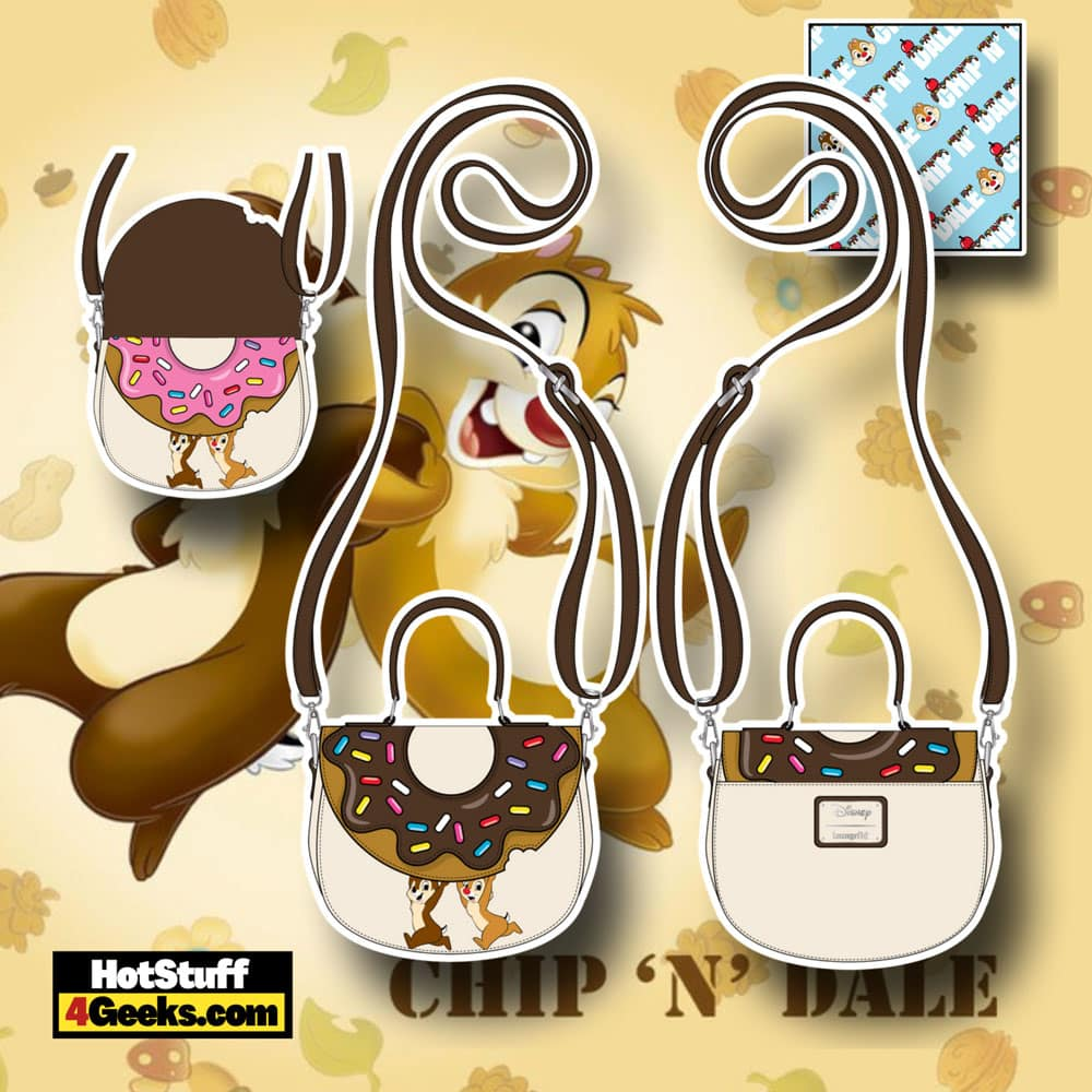 Loungefly Disney Chip and Dale Sweet Treats Crossbody Bag