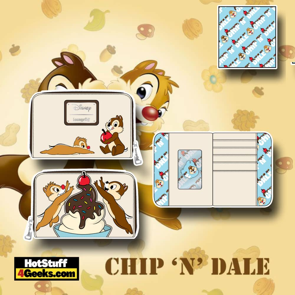 Loungefly Disney Chip and Dale Sweet Treats Zip Around Wallet
