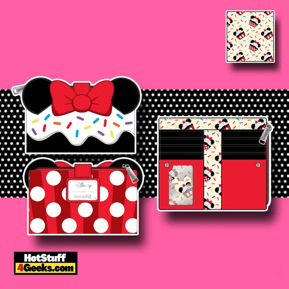 Loungefly Disney Minnie Mouse Sprinkle Cupcake Cosplay Flap Wallet