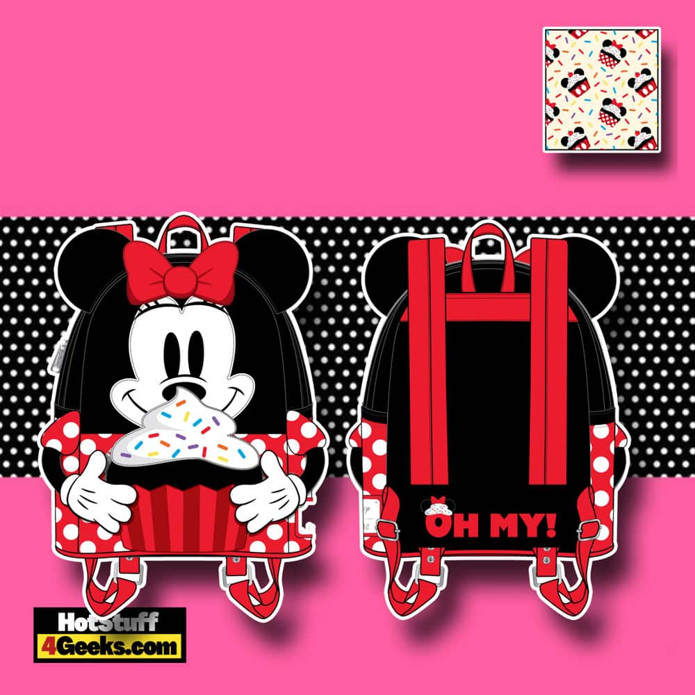Loungefly Disney Minnie Mouse Sprinkle Cupcake Cosplay Mini Backpack