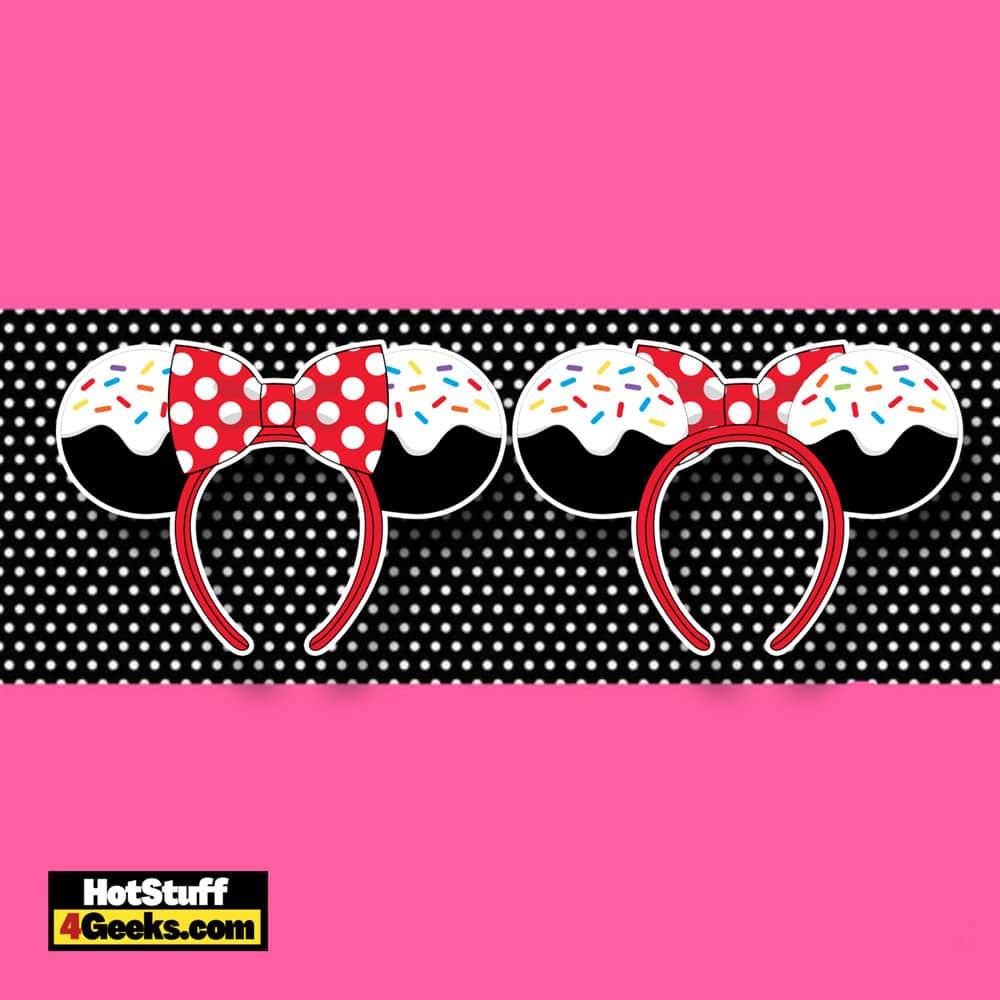 Loungefly Disney Minnie Mouse Sprinkle Cupcake Ears Headband