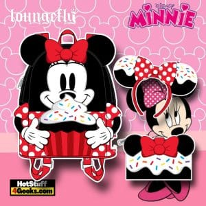 Loungefly Disney Minnie Mouse Sprinkle Cupcake Mini Backpack, Wallet, and Headband - November 2021 Pre-Orders